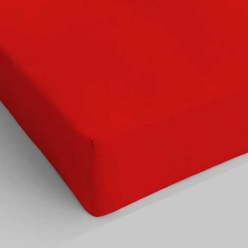 LENZUOLO ROSSO 06 C/ANG. SING. 90X200