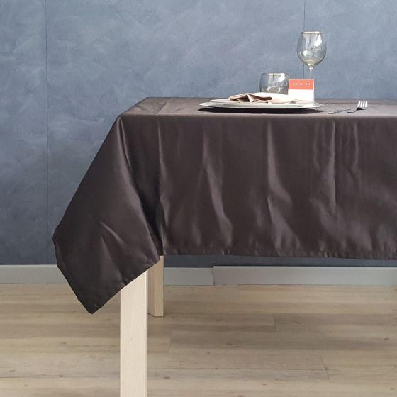 Tovaglia Tinta Unita Colore Nero 160 x 160 Raso Malè Outlet