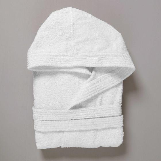 DUBAI Accappatoio Spugna 400 gr Bianco Cappuccio