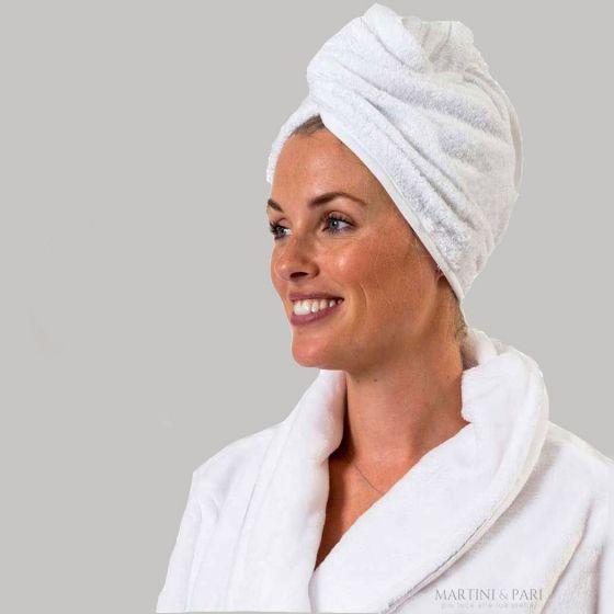 Asciugamano a Turbante per capelli Spugna 400 gr Taglia Unica