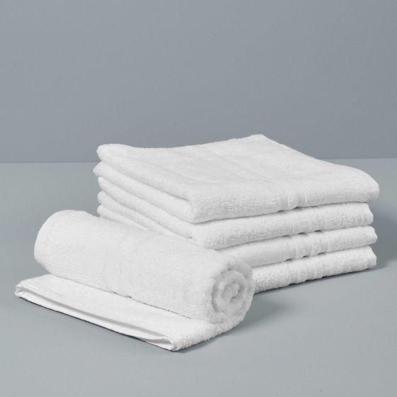 DUBAI Asciugamano Viso Spugna 400 gr Bianco 60X100
