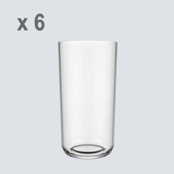 Bicchiere Tritan Riutilizzabile, Riciclabile, Infrangibile, Innocente Zen 325 cc BIO BASED (Cartone da 6 pz)