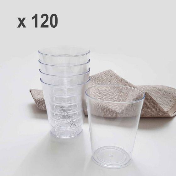 Bicchieri Plastica Durevoli Forma Conica 340cc (120 pz)