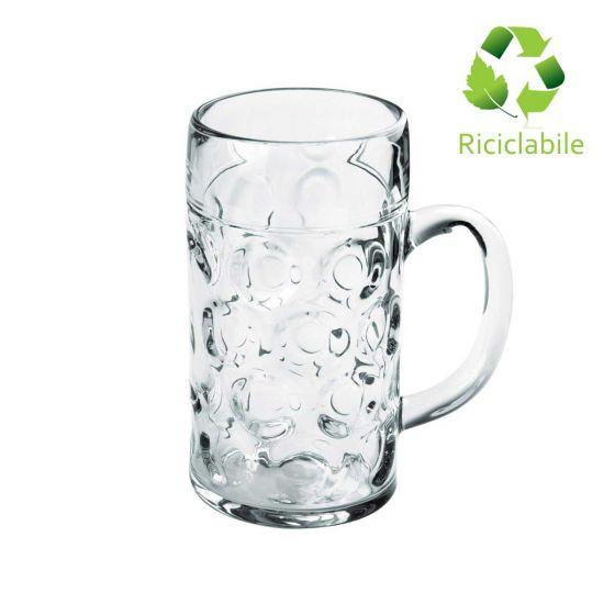 Boccale Birra Piccolo SUN 520 cc, Riciclabile, Infrangibile (Cartone da 6 Pezzi)