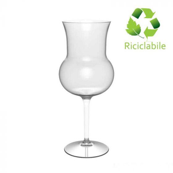 Calice Degustazione Vino, Tritan Riutilizzabile, Riciclabile, Infrangibile,  427 cc BIO BASED (Cartone 6 pz)
