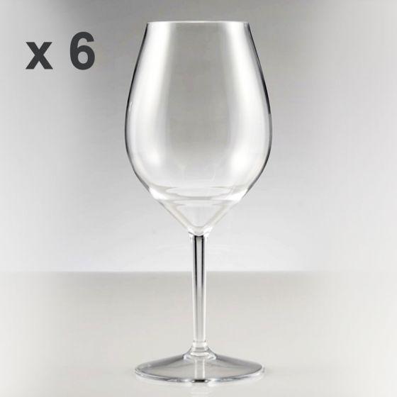 Calice Wine Cocktail, Tritan Riutilizzabile, Riciclabile, Infrangibile, Redone 510 cc (Cartone da 6 pz)