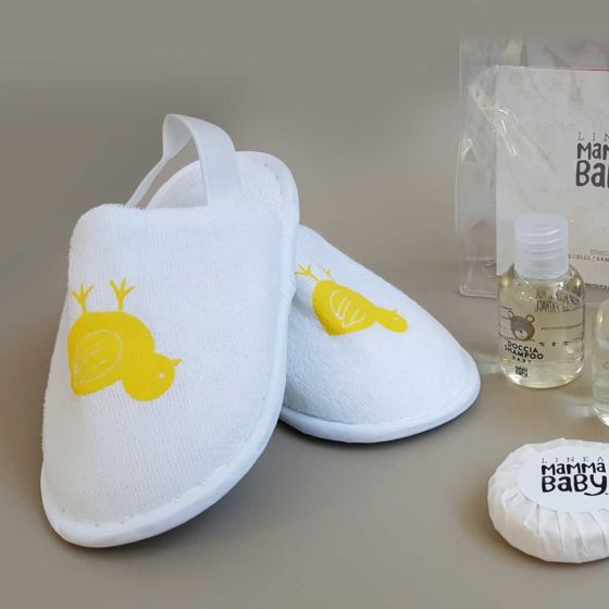 Pantofole Bimbo Spugna c/elastici Pulcino