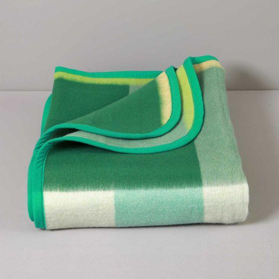 Coperta Jacquard Misto Lana 400 gr, Verde