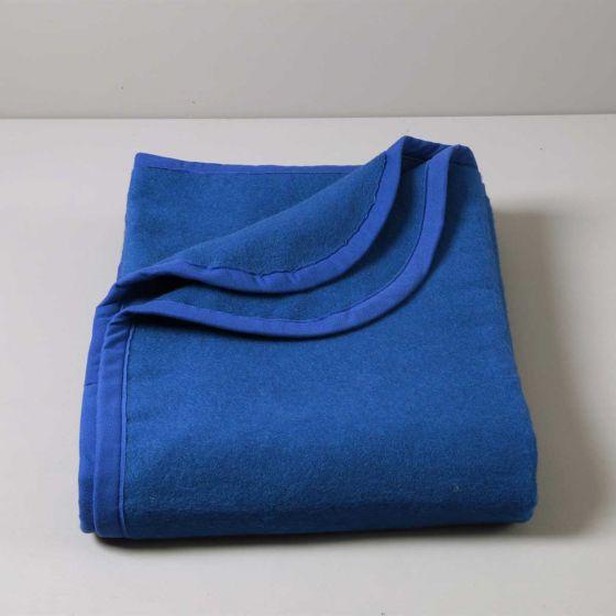 Coperta Ignifuga Plus 350 gr, Blu Royal, Antipilling