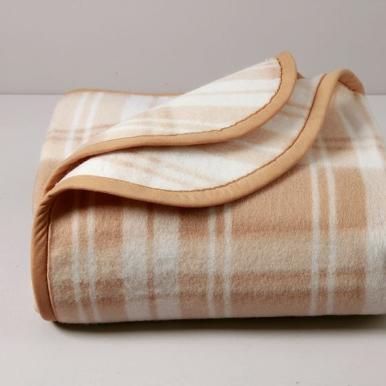 Cortina Coperta Ignifuga, misto lana, Cammello, 450 gr