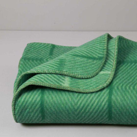 Coperta Misto Lana 400 gr, Anallergica, Verde, Spina