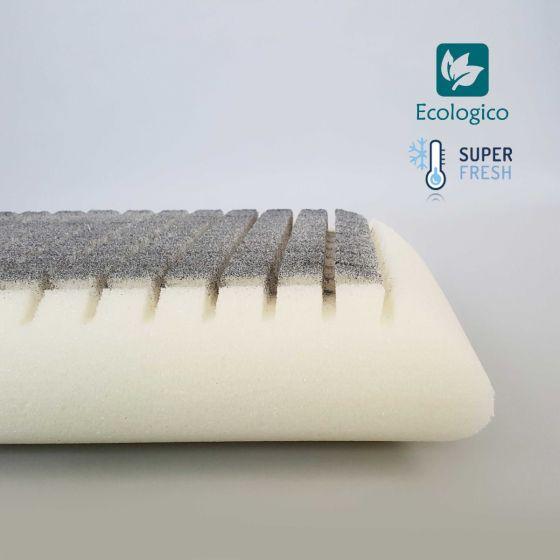 Guanciale  Cuscino Memory Lavabile Ceramic 72 x 40 Alto 12