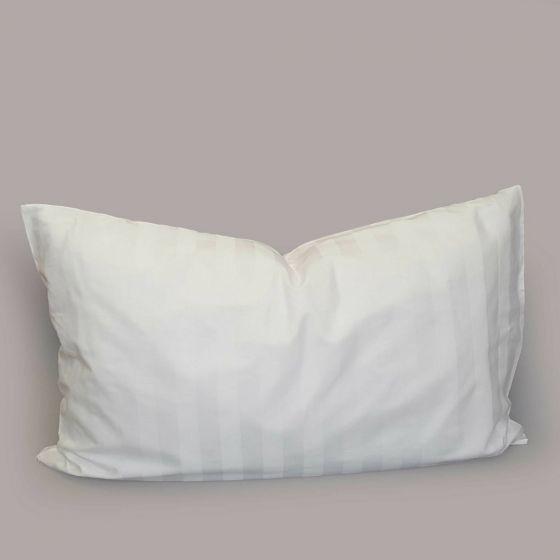 Federa Puro Cotone Raso Riga 3 Colore Bianco Royal