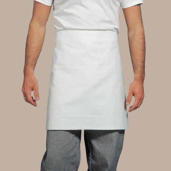 Grembiule Pizzaiolo Barista Cotone Bianco