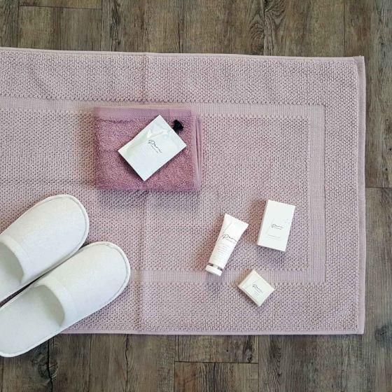 Tappetino bagno Scendi Doccia Malva Quality cm 50 x 80 Cotone 870 gr/mq