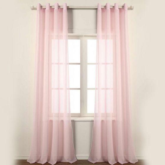 Tenda Confezionata con Anelli 140 x 260 Colore Rosa Holly
