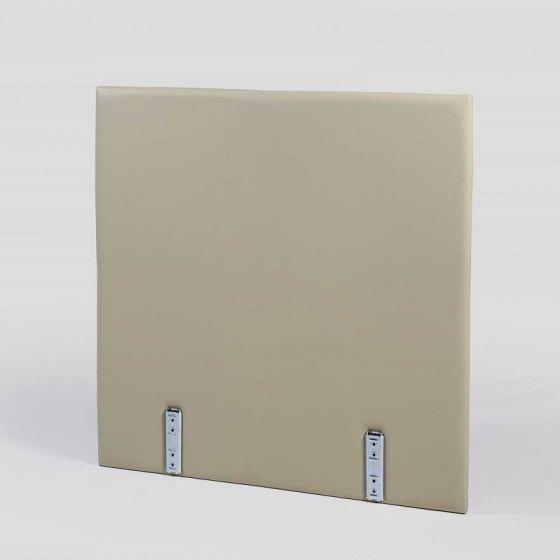 Testiera Sommier Ecopelle Ignifuga, singola quadrata larghezza 90 cm