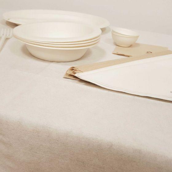Tovaglia Usa e Getta Coprimacchia monouso Bianco 100 X 100 Eco Bambook (Conf. 80 pz )