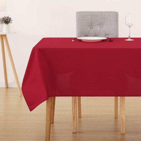 Tovaglia Tinta Unita Rosso 140 x 140 Panama Misto Cotone