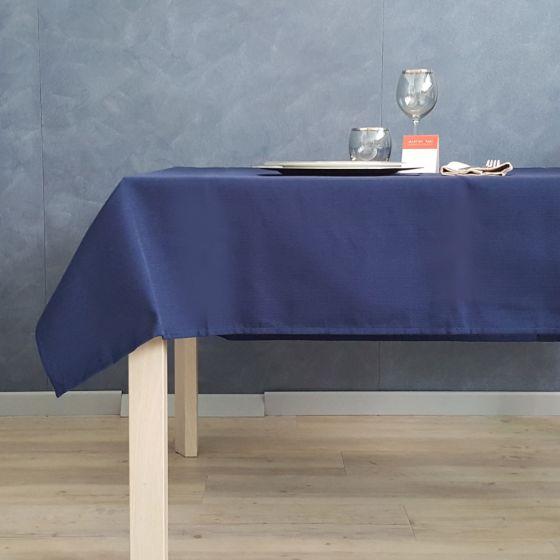 Tovaglia Tinta Unita Blu 150 x 150 Tessuto Indanthrene Havana Outlet