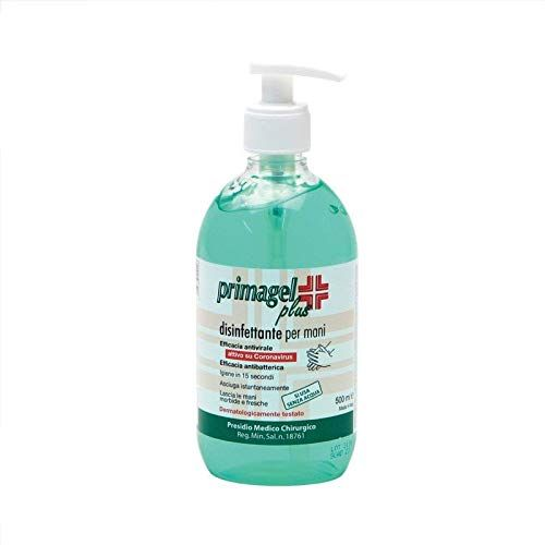 Primagel Plus Disinfettante Mani 500 ml (Cartone da 12 pz + 12 Dispenser)