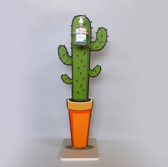 Colonna Porta Gel Igienizzante Forex Cactus Arancione 30*30*110h