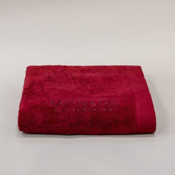 Asciugamano Telo 92 x 142 Spugna 550 gr Bordeaux Deluxe