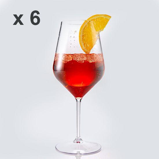 Calice Cocktail Spritz Tritan Trasparente Riutilizzabile, Riciclabile, Infrangibile 470 cc (Cartone 6 pz)