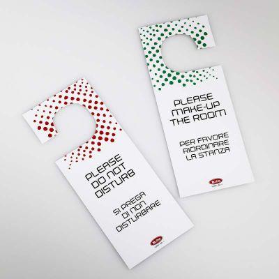 Cartellino Non Disturbare in cartoncino plastificato (Conf. 20 pezzi)