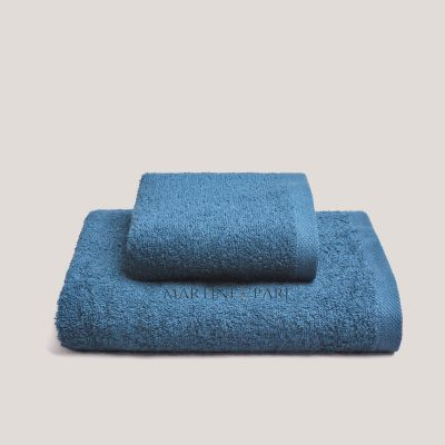 CHARME Asciugamani Viso + Ospite 410 GR Blu Zaffiro