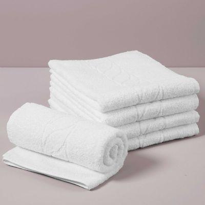 PRESTIGE Asciugamano Viso Spugna 460 gr, Bianco