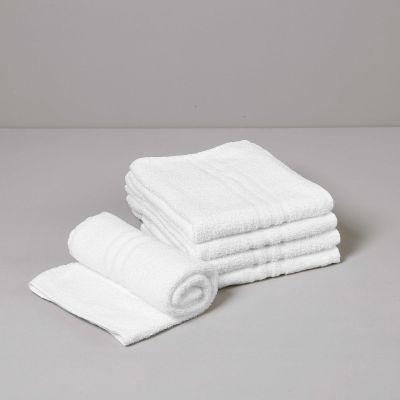 BASIC Asciugamano Viso, Spugna 360 gr Bianco 50 x 90