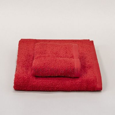 CHARME Asciugamani Viso + Ospite 410 gr Rosso