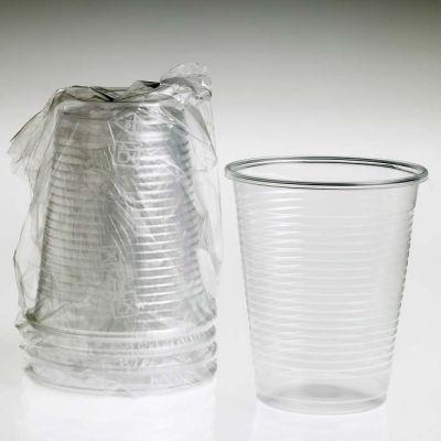Bicchiere di plastica trasparente imbustato per hotel (conf. 1000 pz)