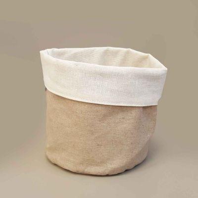 Portapane Stoffa per Ristoranti, Cestino per pane, 100% Lino Resinato Antimacchia
