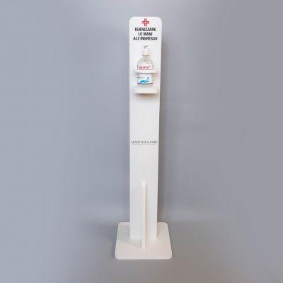 Colonna Porta Gel Disinfettante Forex Bianco 30*30*120h