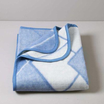 Rombi Coperta Misto lana Azzurro 450 gr