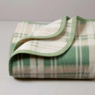 Cortina Coperta Ignifuga, misto lana, Salvia, 450 gr