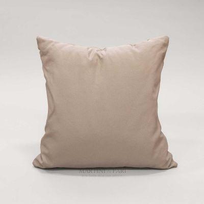 Cuscino arredo, quadrato, colore Tortora (solo Fodera) Ponza