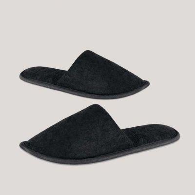 Pantofola Lusso per Hotel Ciabattina chiusa Suola EVA Colore Nero