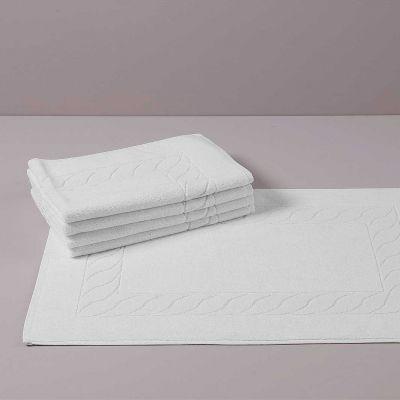 PRESTIGE Tappetino Bagno Bianco Spugna 700 gr 50 x 75