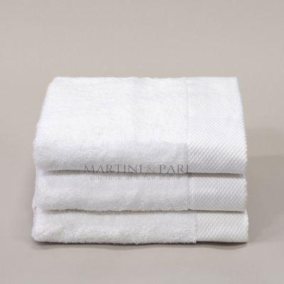 SUPERIOR Asciugamano Viso Spugna 500 gr Bianco 57 x 98
