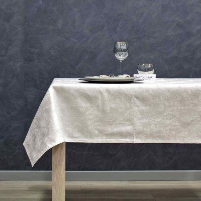 Tovaglia Cotone Jacquard Bianco Tinto in FIlo IDH Aida