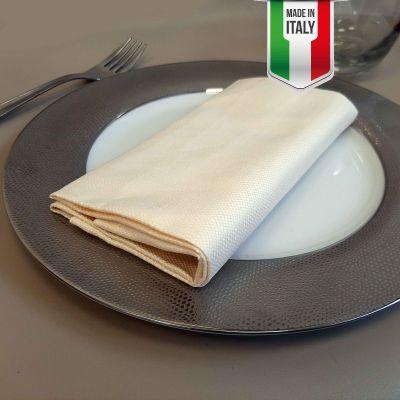 Tovagliolo Puro Cotone Avorio 50 x 50 Bakery Made in Italy