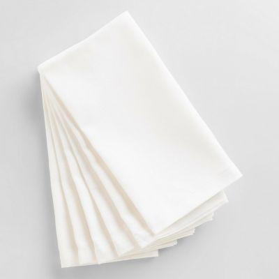 Tovagliolo bianco, cotone, 50x50 cm per ristorazione Panarea