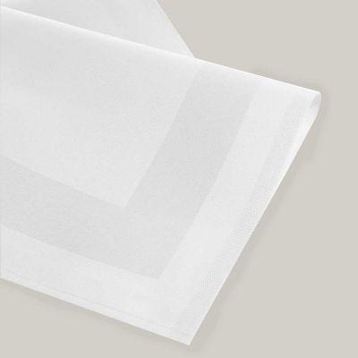 Tovagliolo Cotone Fascia Raso colore bianco cm 50 x 50