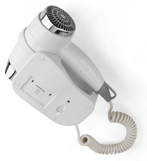Asciugacapelli da muro Bianco, Acciaio HD20